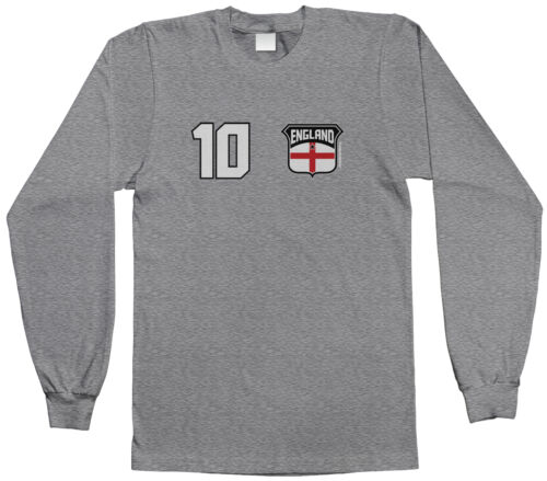 Threadrock Kids Team England Soccer Youth L//S T-shirt Flag Country British
