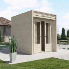 Casetta in Legno Moderna design LA PRATOLINA spessore 33 mm di abete 2x2