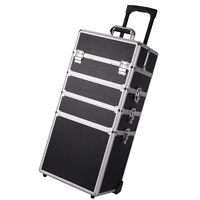 Aaccessories Pro 4in1 Interchangeable Aluminum Rolling Makeup Case Trolley