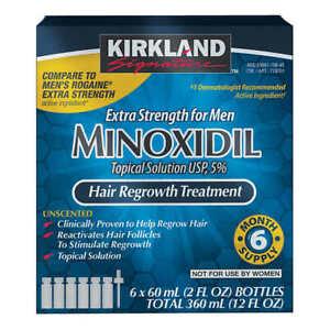 100%Original KirklandMinoxidil Hair Regrowth, Growth Promoter Solution,Ships🌎