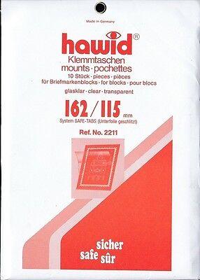 Lindner HA2237 hawid/® Klemmtaschen Blockstreifen-glasklar 46 x 27,5 mm 115 x 164 mm