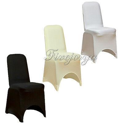 Spandex Lycra Chair Cover Avaiable in White, Black, Ivory, Wedding Brand New