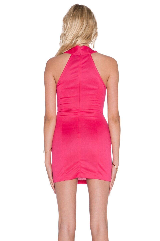 AQ AQ SIRENA SIRENA SIRENA cinturino incrociato mini abito-Rossetto rosa eccab6