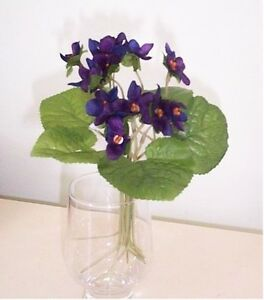 Artificial silk flowers plants african violet stems f89 ebay image is loading artificial silk flowers amp plants african violet stems mightylinksfo
