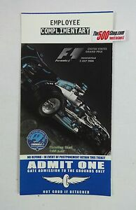 2006-Indy-US-Grand-Prix-Formula-One-Unused-Race-Ticket-Employee-Complimentary