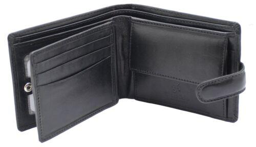 Homme RFID Cuir Homme Portefeuille Sac à main carte de crédit Porte-monnaie Pochette 1212 Noir