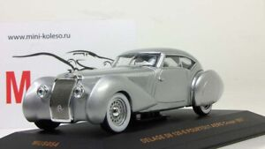 Modelo-Em-Escala-1-43-Carro-Delage-D8-120-S-pourtout-Aero-Coupe-1937-Prata