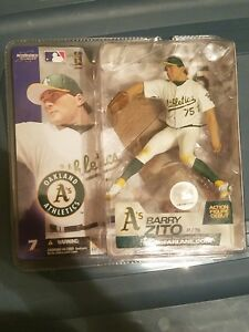 new style c39a1 cef9d Details about McFarlane Barry Zito Oakland Athletics White Jersey Figure  (Series 7) MLB