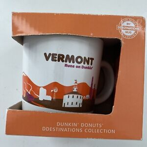 Dunkin Donuts Destinations Coffee Mug Collection State VERMONT Collectible 2012