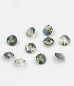 12-pieces-Swarovski-8mm-side-hole-Diamond-shape-Crystal-bead-Hyaline-green