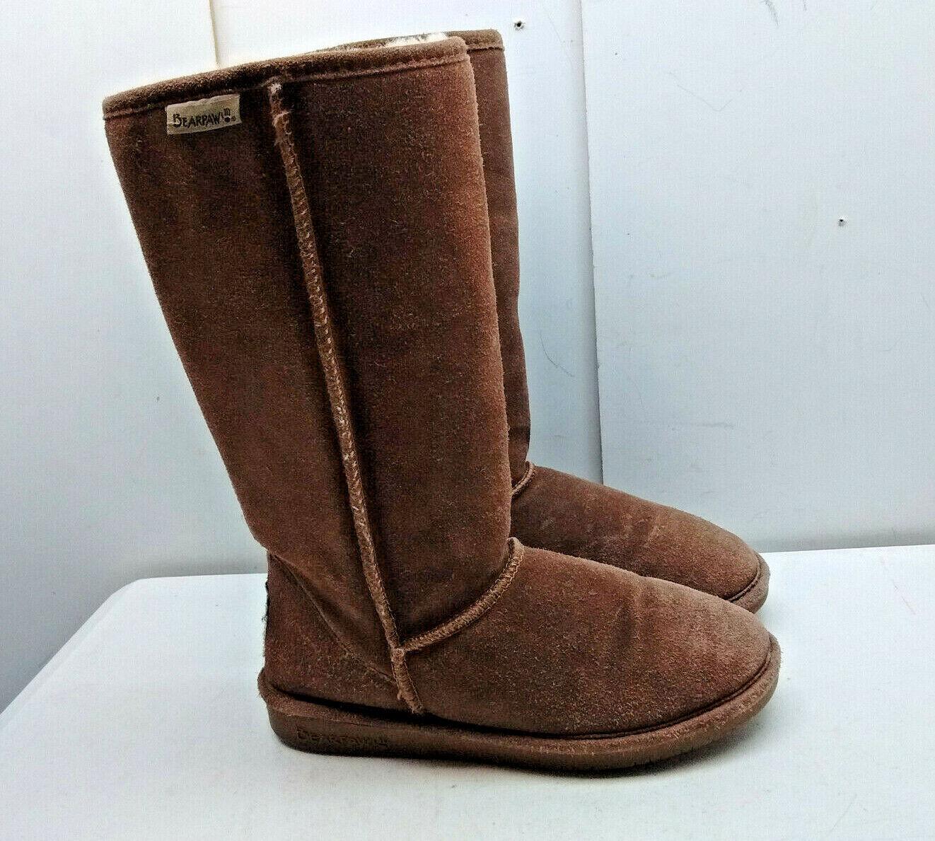 popular Bearpaw Gamuza marrón marrón marrón de piel de oveja con aislamiento de Alto Bota Invierno Nieve Lluvia Zapato de mujer 8M  Compra calidad 100% autentica