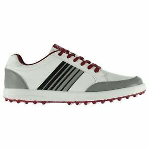 Slazenger-Mens-Casual-Spikeless-Golf-Lace-Up-Shoes-Colour-Contrasting-Padded