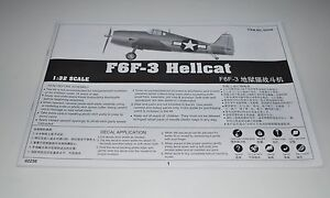 TRUMPETER-F6F-3-HELLCAT-02256-PARTS-INSTRUCTION-MANUAL-1-32