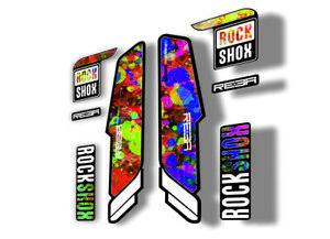 Rock Shox REBA 2018 Fork Decal Mountain Bike Cycling Sticker Adhesive Oil Slick1