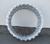 12 Razor / Helical Barbed Wire Galvanized Steel 5 Coil 100 Feet Coverage
