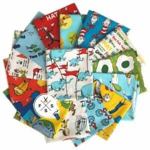 Kaufman-Dr-Seuss-Favorites-Full-Yard-Bundle-15pc-Quilt-Fabric-Rare-OOP