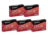 5 Sony Hdv Dvm-63hdr Mini Dv Hd Tape For Hc40 Hc38 Hc36 Hc32 Hc30 Hc28 Hc1000