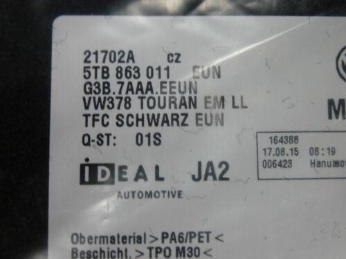 Original 1 Satz Fussmatten aktueller VW Touran 2016 5T NEU 5TB863011 EUN