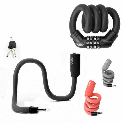 ULAC Multi-function Lock Portable Bicycle Bike Cable Lock Code Password/&Key Lock