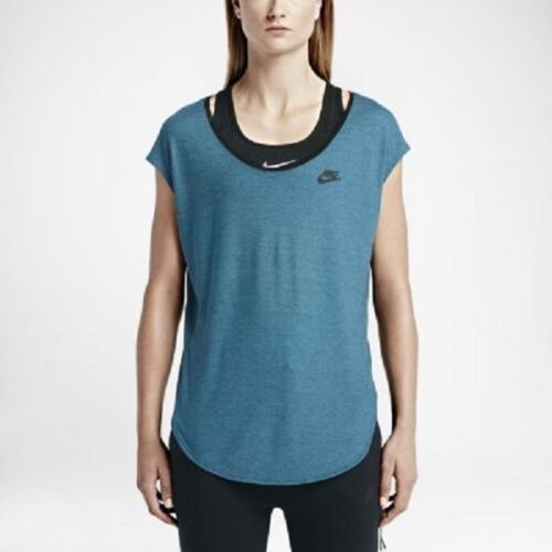 entrenamiento de cuello Nike de V y de 689069 mangas con Camiseta para sin tenis camiseta mujer camiseta gimnasia en 5qFdR