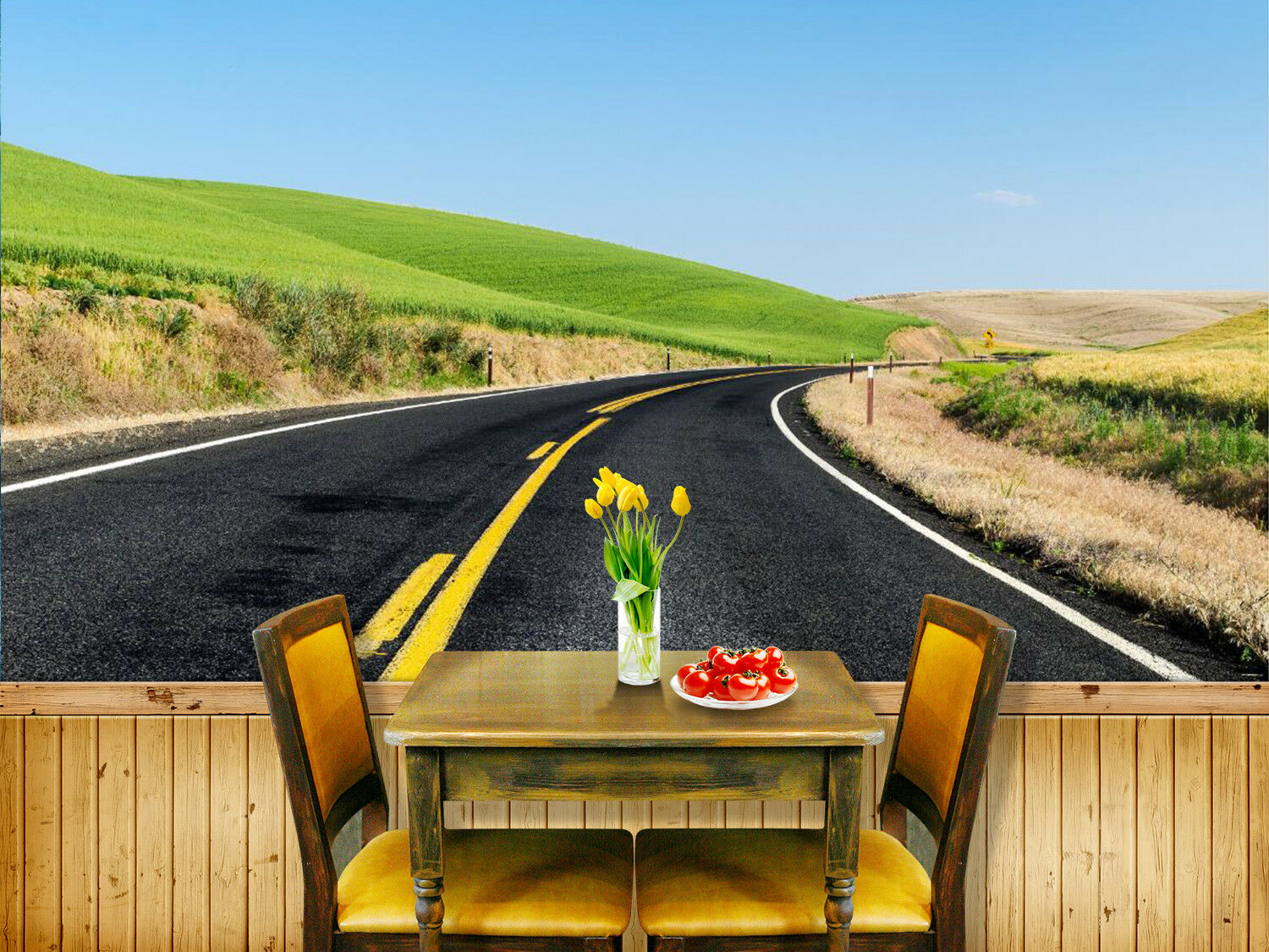 3D Highway 515 Wallpaper Murals Wall Print Wallpaper Mural AJ WALL UK Summer