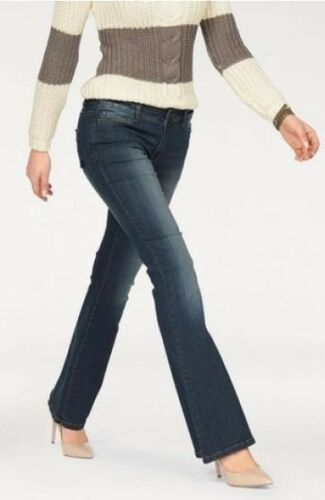 Arizona colpo Pantaloni Jeans Skinny Flare k-gr.18-19 Donna Blu Heavy Stretch Denim