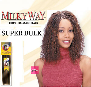 Milkyway Super Bulk 100 Haman Braiding Hair Extention Wet Wavy