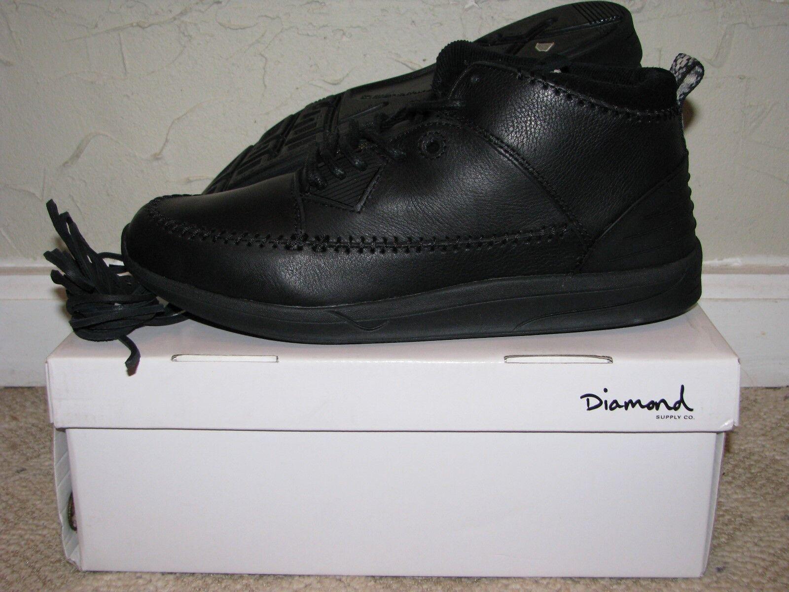 Diamond Supply Co. Native Trek Boot Black Mens Size 10 DS NEW