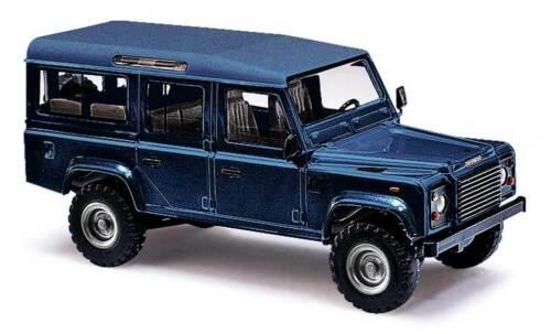 """azul Busch 1:87 50352 Land Rover Defender 110/"""" metallica/"""" nuevo!"""