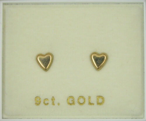 BUTTERFLY HEARTS CROSS FROM £13.50 9 CARAT GOLD STUD EARRING END OF LINE