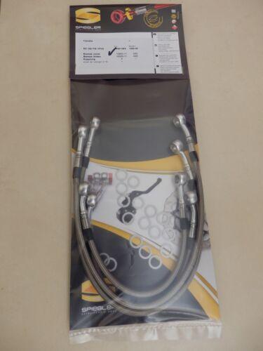 SPIEGLER STAHLFLEX vorne /& hinten NEU RD350 brake hose RD 350 YPVS 1WW 1WX 1986