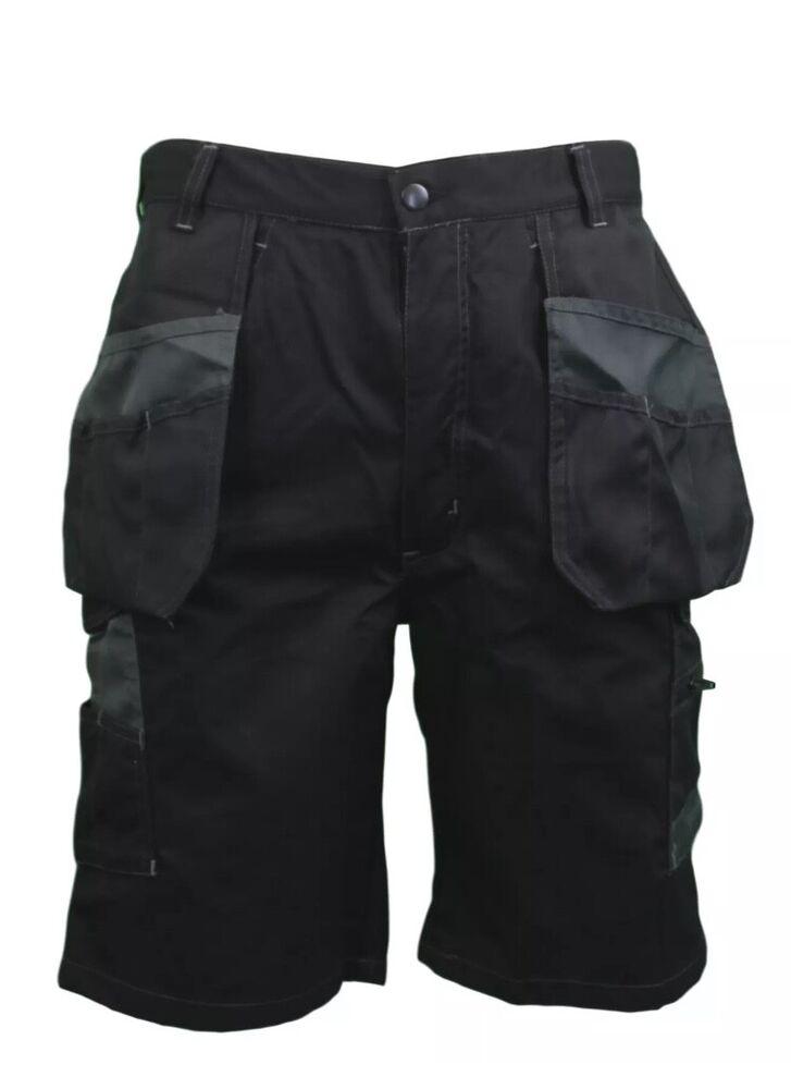 Brillant Himalayan Multi-poche Work Commerce Cargo Combat Utility Noir Short Workwear Pour Classer En Premier Parmi Les Produits Similaires