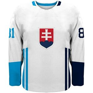 best authentic 30417 9c9e8 Details about 2019 Slovakia Team Europe Hockey World Cup Jersey White NHL  HALAK SEKERA CHARA