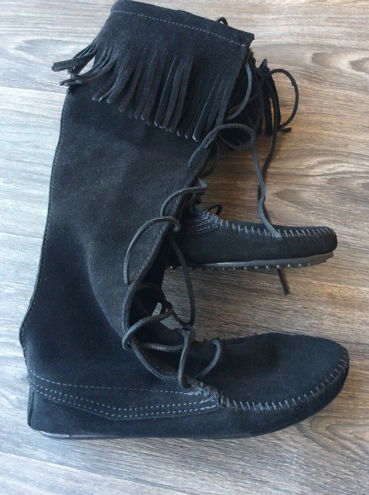 in vendita Minnetonka donna's Front Lace Knee High avvio nero Dimensione Dimensione Dimensione 7  vendita con alto sconto