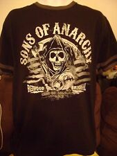 SONS OF ANARCHY T-SHIRT-MEDIUM- SAM CRO-REDWOOD  S.O.A. BIKER OFFICIAL