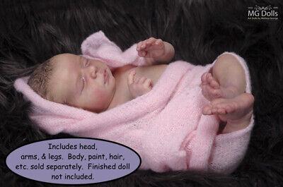 "DIY Realborn® Lavender Sleeping 19/"" Reborn Doll Parts Kit"
