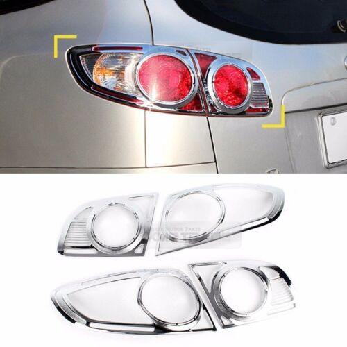 Chrome Rear Tail Lamp Molding Trim Garnish Cover for HYUNDAI 2006-2009 Santa Fe