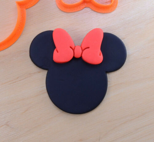 3d printed plastic Disney Minnie Mouse and Bow Cookie Cutter Set