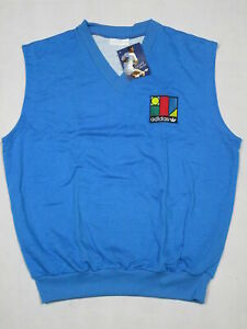 Details zu Adidas Pullunder Sweater Tennis 80s Vintage Deadstock Ivan Lendl XS S M L XL NEU
