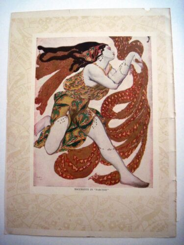 "1911 Double-Sided ""Leon Bakst"" Print From Metropolitan Opera Publication *"