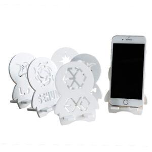Kpop-exo-Logo-niedlichen-tragbaren-Handy-Flachhalterung-universell-aus-Holz