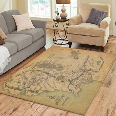 New Por Custom The Lord Of Rings Area Rug Decorative Floor Carpet Ebay