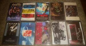 80s ROCK Cassette Tape Lot of 10 albums Kix Spinal Tap Aerosmith Police Kansas