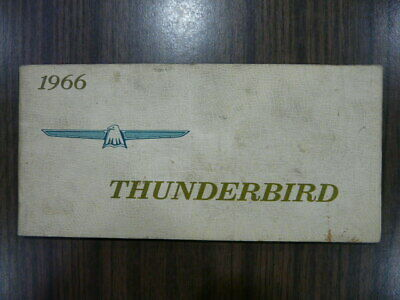 thunderbird owners manual original ebay