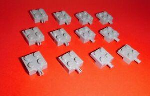 Lego 8 x Platte Achse 4600 2x2 alt hellgrau