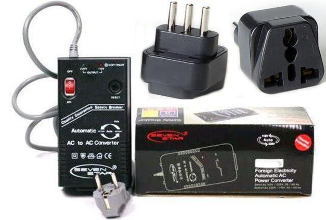 Step Up Down 200 Watt Travel Converter + Italy Italian Plug Adapter 110V 220V
