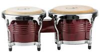 Gp Percussion 6 / 7 Tunable Hickory Bongos Pro Series, Dark Brown, Brw2 on Sale