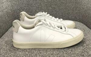 Esplar White Leather Sneakers Size
