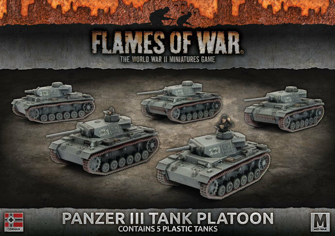 Flames of War - Panzer Iii Platoon (X5 Plastic) - German - GBX105