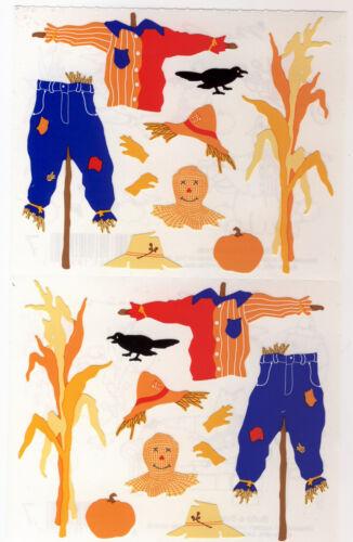 Grossman/'s Giant Stickers Scarecrow Parts 2 Strips Mrs Build-A-Scarecrow